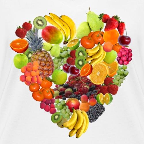 Frucht Herz - Frauen Bio-T-Shirt mit V-Ausschnitt von Stanley & Stella