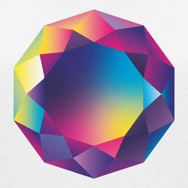 Diamond geometric illustration