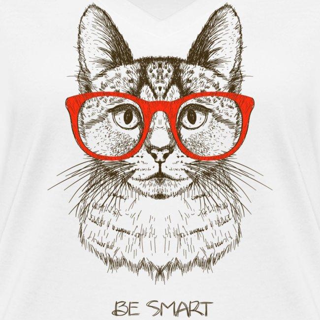 Vorschau: Cat Hipster - Frauen Bio-T-Shirt mit V-Ausschnitt von Stanley & Stella