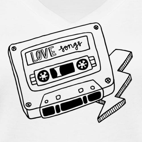 Luloveshandmade - Love Songs - Frauen Bio-T-Shirt mit V-Ausschnitt von Stanley & Stella