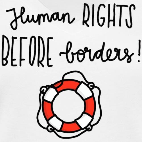 Luloveshandmade - Human Rights Before Borders - Frauen Bio-T-Shirt mit V-Ausschnitt von Stanley & Stella