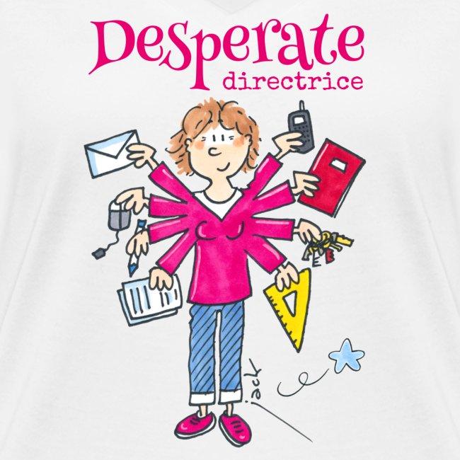 011 Desperate directrice - T-shirt bio col V Stanley & Stella Femme |  Danger Ecole - Jack KOCH - la boutique en ligne