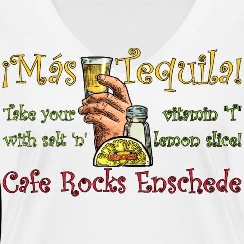 ¡Mas Tequila! - Vrouwen bio T-shirt met V-hals van Stanley & Stella