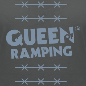 Queen of Ramping - T-shirt col V Femme