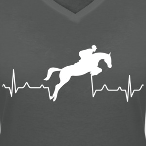 Heartbreak of a rider - Women's V-Neck T-Shirt