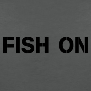 fish on black writing - Women's V-Neck T-Shirt