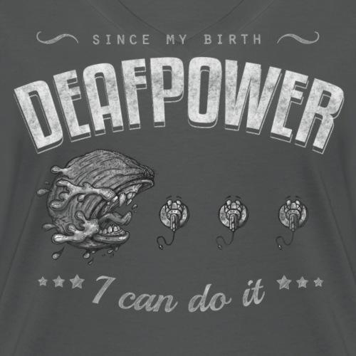 Deafpower Vintage - Frauen Bio-T-Shirt mit V-Ausschnitt von Stanley & Stella