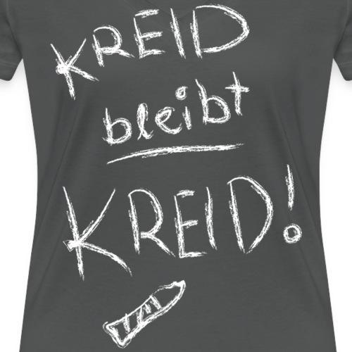 Kreid bleibt Kreid - Frauen Bio-T-Shirt mit V-Ausschnitt von Stanley & Stella