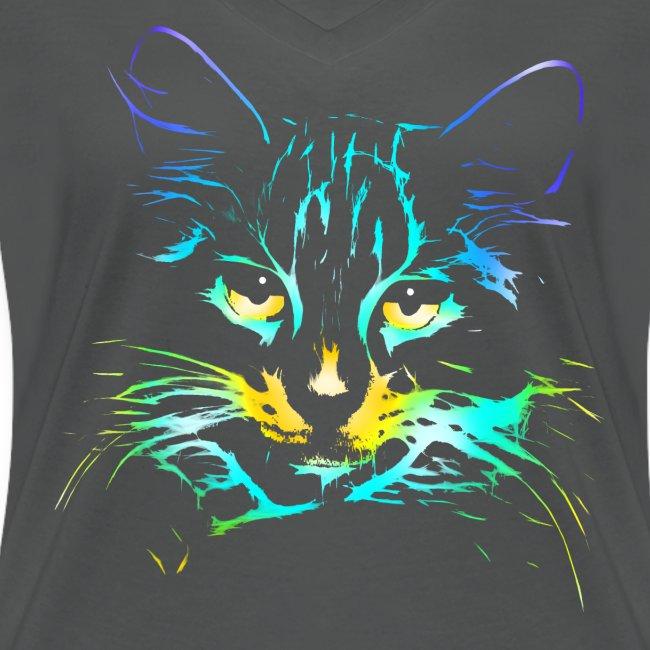 Vorschau: color kitty - Frauen Bio-T-Shirt mit V-Ausschnitt von Stanley & Stella