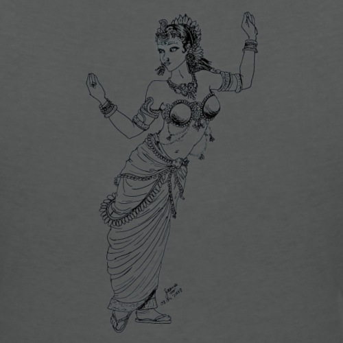Shakti Indian Dancer - Women's Organic V-Neck T-Shirt by Stanley & Stella