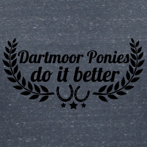 Dartmoor ponies - Women's V-Neck T-Shirt