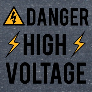 Elektriker: Fara! High Voltage! - T-shirt med v-ringning dam