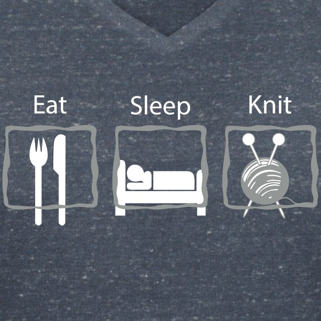 Eat Sleep Knit V-hals T-shirt