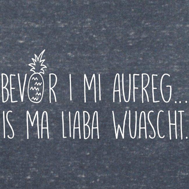 Vorschau: Bevor i mi aufreg is ma liaba wuascht - Frauen Bio-T-Shirt mit V-Ausschnitt von Stanley & Stella