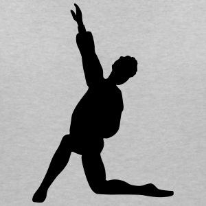 Vector Ballet dancer Silhouette - Women's V-Neck T-Shirt