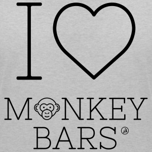 I Love Monkey Bars - Women's V-Neck T-Shirt