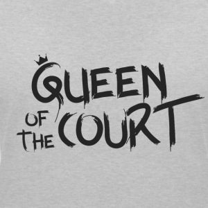 Queen of the court - T-skjorte med V-utsnitt for kvinner