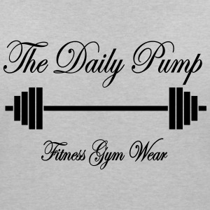 The Daily Pump Barbell - Vrouwen T-shirt met V-hals