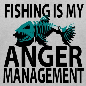 Anger Management - Fishing - Women's V-Neck T-Shirt