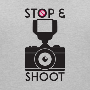 stop and shoot - Women's V-Neck T-Shirt