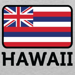 National Flag Of Hawaii - T-shirt med v-ringning dam