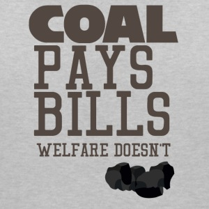 Mining: Coal pays bills, welfare doesn't - Women's V-Neck T-Shirt
