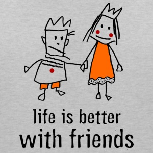 life is better with friends king princess crown - Women's V-Neck T-Shirt