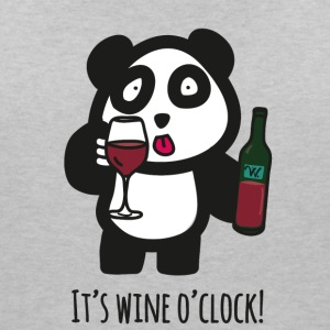 Drinking Panda - It's wine o'clock - Women's V-Neck T-Shirt