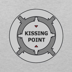 Kissing Point gray - Women's V-Neck T-Shirt