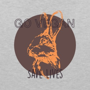 Go vegan - save lives - Women's V-Neck T-Shirt