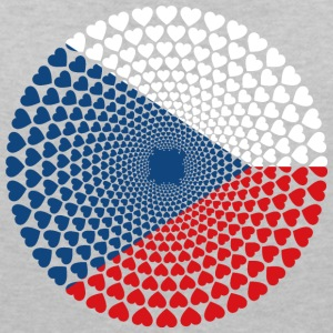 Czechia Czech Republic Česká Love HEART Mandala - Women's V-Neck T-Shirt