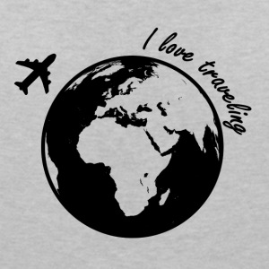 I love traveling - Women's V-Neck T-Shirt