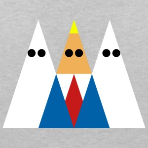 Trump and KKK - Women's V-Neck T-Shirt