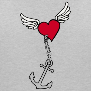 Heart with anchor - Women's V-Neck T-Shirt