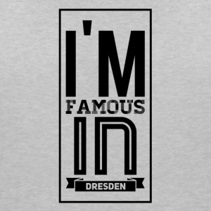im famous in Dresden - Women's V-Neck T-Shirt