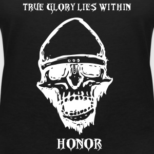 Skull of Honor - T-shirt med v-ringning dam