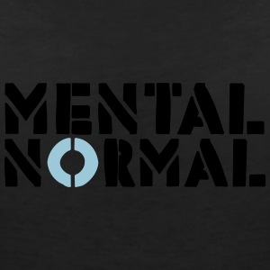 MENTAL NORMAL - T-shirt med v-ringning dam