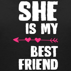 She is my best friend Right - Women's V-Neck T-Shirt