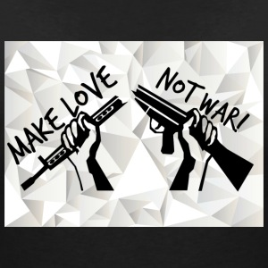 MAKE LOVE - NOT WAR! (Peace, Freedom, Anti War) - Women's V-Neck T-Shirt