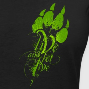 LIVE AND LET LIVE (green) - Women's V-Neck T-Shirt