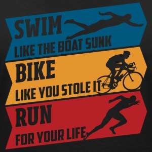 Swim - Bike - Run - Women's V-Neck T-Shirt