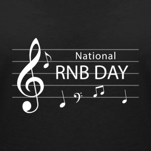 RNB Day - Nationl RNB - T-skjorte med V-utsnitt for kvinner