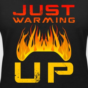 Just Warming Up by JuiceMan Benji Gaming - Women's V-Neck T-Shirt
