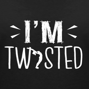 YOGA ,, I'm twisted '' - Women's V-Neck T-Shirt