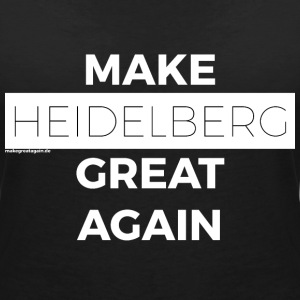 MAKE GREAT AGAIN HEIDELBERG white - Women's V-Neck T-Shirt