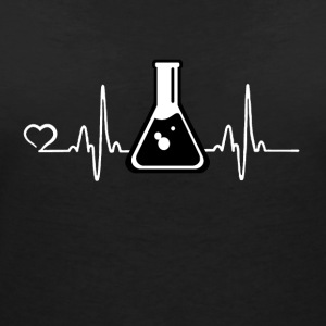 Chemistry - Heartbeat - Women's V-Neck T-Shirt