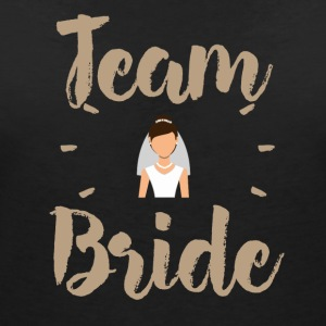Team Bride - T-shirt med v-ringning dam