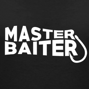Master Baiter - Fishing Addict - Women's V-Neck T-Shirt