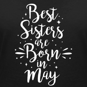 Best sisters are born in May - Frauen T-Shirt mit V-Ausschnitt
