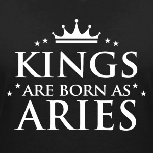 Kings föds som Aries - T-shirt med v-ringning dam